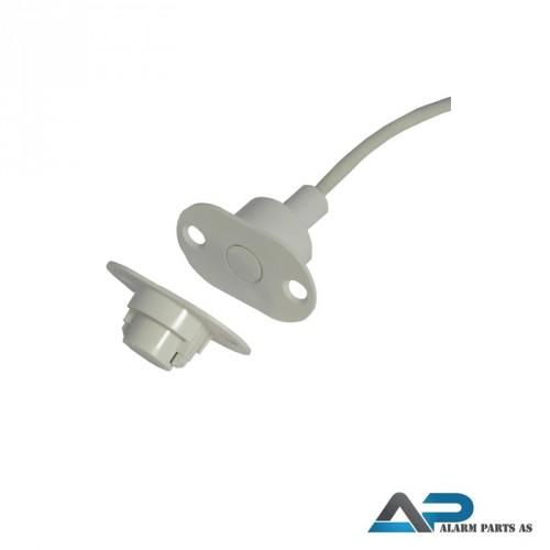Magnetkontakt sett for innfelling 2m kabel