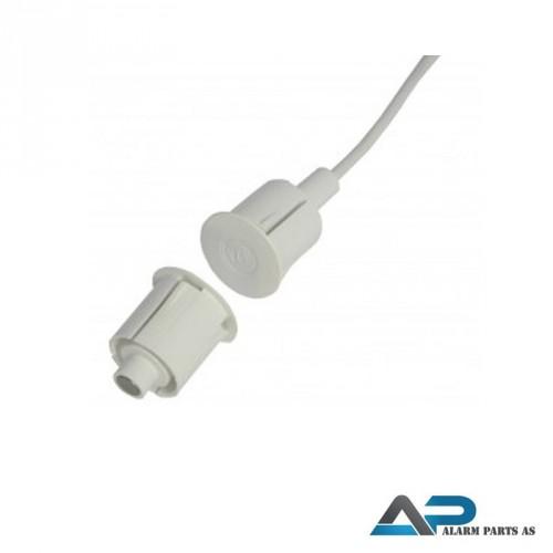 Høysikkerhetskontakt innfelling 19mm 2m kabel