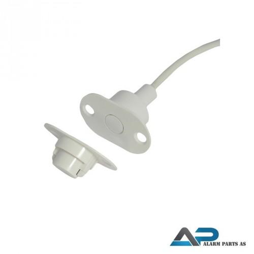 Høysikkerhetskontakt for innfelling 2m kabel
