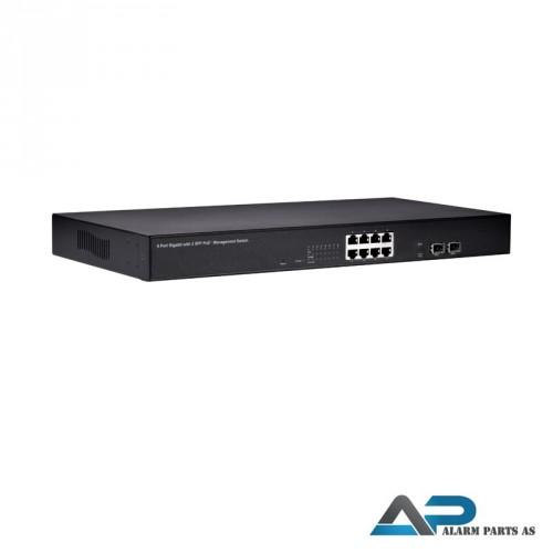 POE0811 Switch 8 porter med up link web management