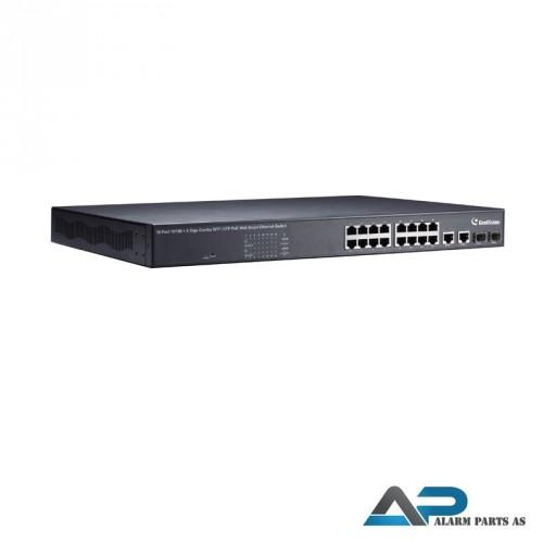 POE1601 Switch 16 porter 250W