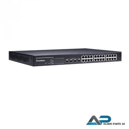 POE2411 Switch 24 porter 400W up link WEB Manageme