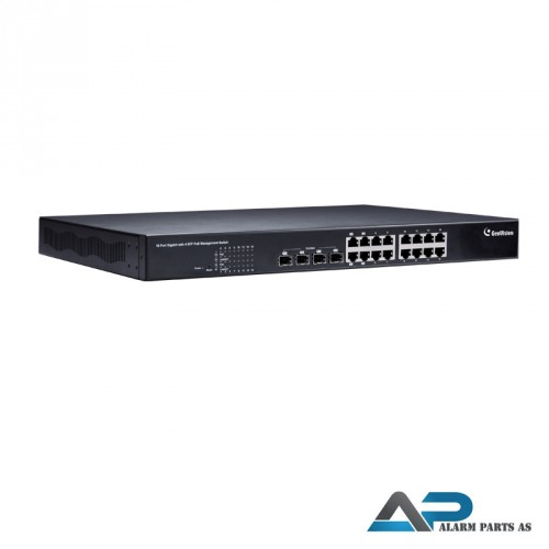 POE1611 Switch 16 porter upling WEB Management