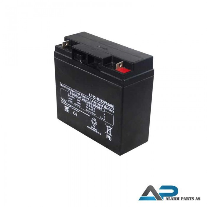LP12-18 12V batteri 18Ah