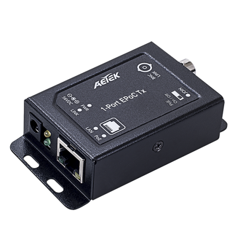 XE10-110-TX innendørs 1-port Ethernet over Coax TX adapter.