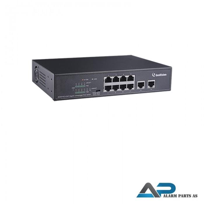 APOE0810 PoE Switch 8 port 10_100_1000M + 2GB upli