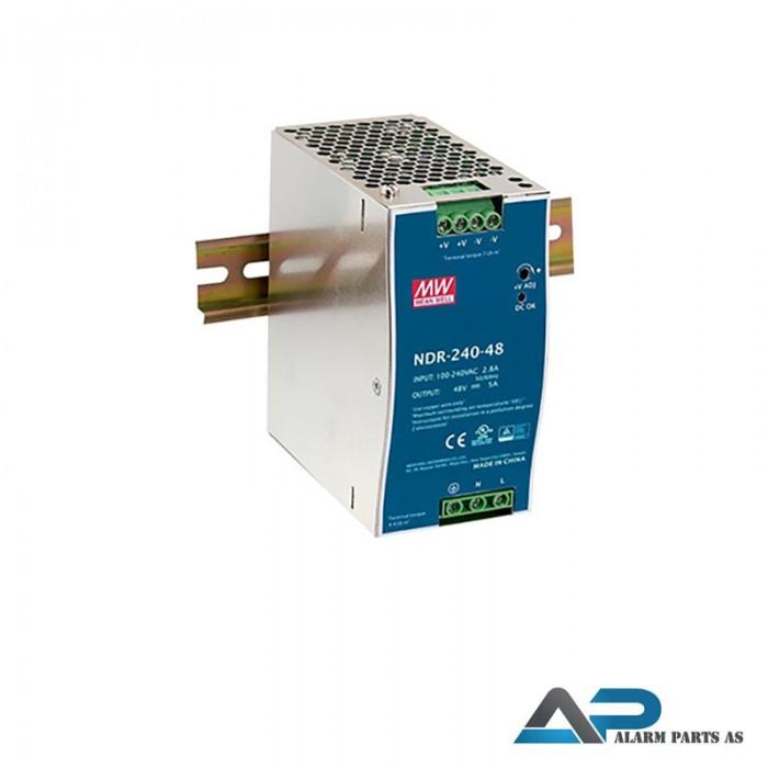 NDR-240-48 Strømforsyning 48-55VDC 240W DIN skinne